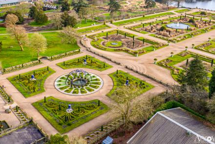 trentham gardens drone photography